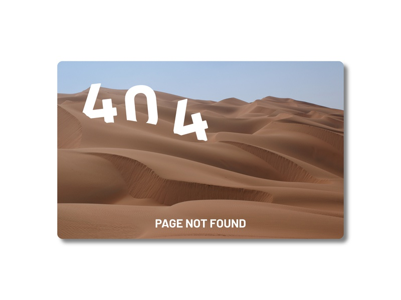 404 Page Not Found - DailyUI Challenge 008