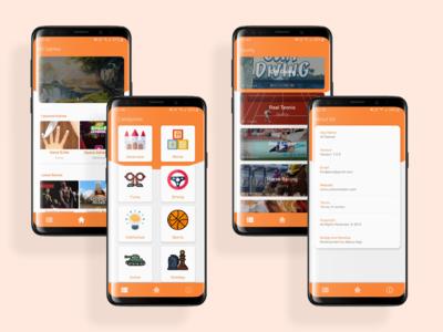 All Games App UI Design