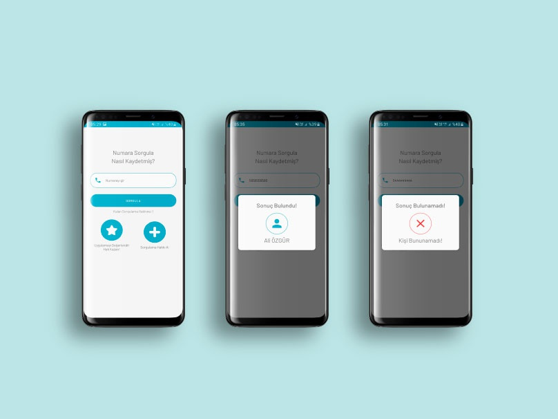 Telephone Number Inquiry App UI Dessign interface user inteface application ui application app ux ui blue design illustration