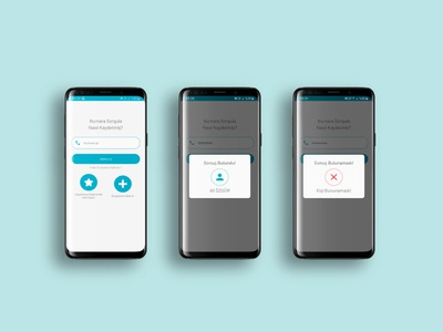Telephone Number Inquiry App UI Dessign