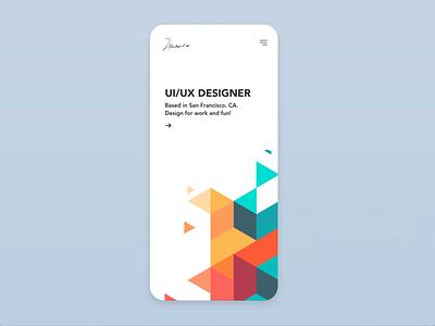 Dribbble Portfolio Website react dribbble geometric grid clean app phone website showcase clickai animation startup minimal ux ui website builder portfolio