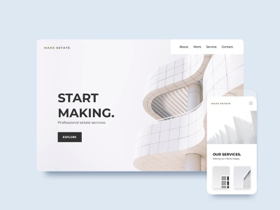 ClickAi - Template minimal landing page startup app grid clean animation web click clickai portfolio minimal react website website builder ux ui