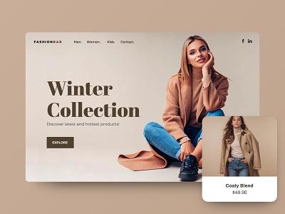 ClickAi - Store shop website builder ecommerce fashion clickai store landing typography website clean app web minimal ux ui