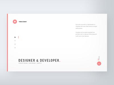 Personal CV website web typo ui ux minimal dailyui clean app website typography white cv