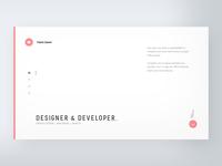 Personal CV website