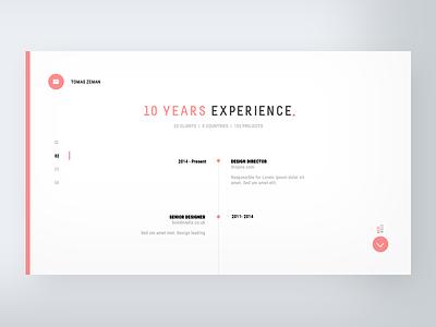 CV Webstite - Experience web typo ui ux minimal dailyui clean app website typography white cv