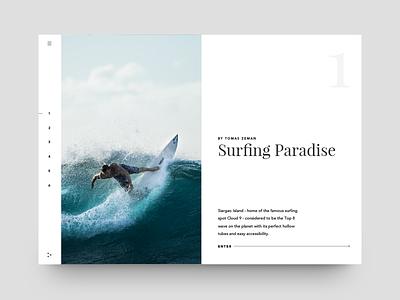 Skin design update white landing microsite surf typography web app minimal clean ux ui