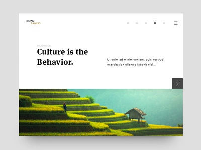 Article Layout photo landing typography animation white landing minimal web website ux ui