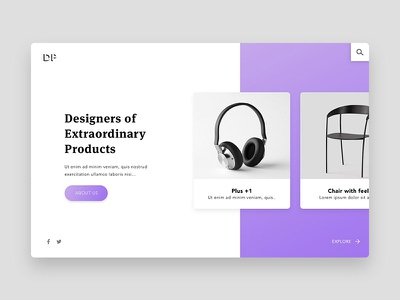 Products Landing Page material website web purple grid card product minimal ux ui