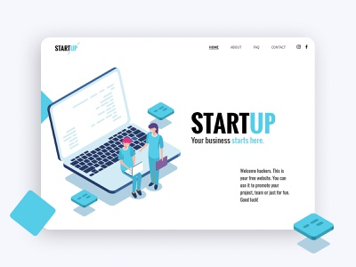 Startup Layout - ClickAi clickai app minimal illustration website ux ui landing page home page startup