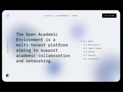 Interface Guidelines - OAE 003 education branding ui ux design dailyui interface