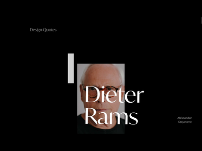 Design Quotes quotation quote design quotes quote scroll animation simple website jony ive dieter rams designers designer user interface ui black type webdesign motion design motion animation typography