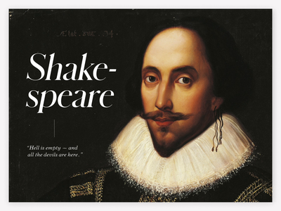 Shakespeare Quotes | Part 1 italic space design quotes white shakespeare classic clean simple figma font typogaphy type animation typography
