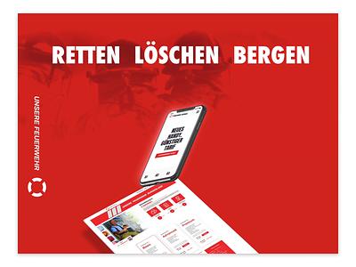 Unsere-Feuerwehr website design form ux design ux user experience mobile shop mobile online store online shop shop firefighters austria red figma clean website design webdesign user interface ui