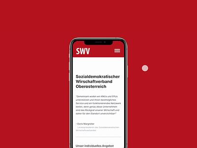 SWV - Wirtschaftsverband user experience ux social magenta austria marketing store shop mobile red figma website design webdesign user interface ui