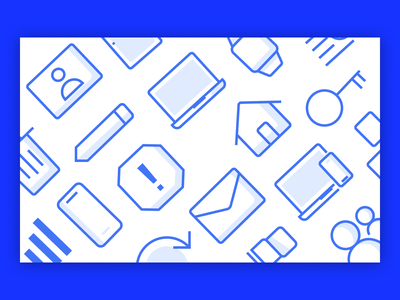 Life Cycle Self Service App - Custom Icons icon design iconography icon set iconset icons simple clean blue and white blue minimal flat web app icon vector branding logo illustration user interface ui