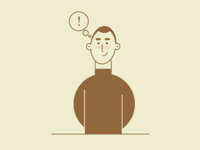 dribbble person thinking cartoon minimal art minimal vector art vector css drawing css art css3 css line art people person illustration art illustration 2d illustration