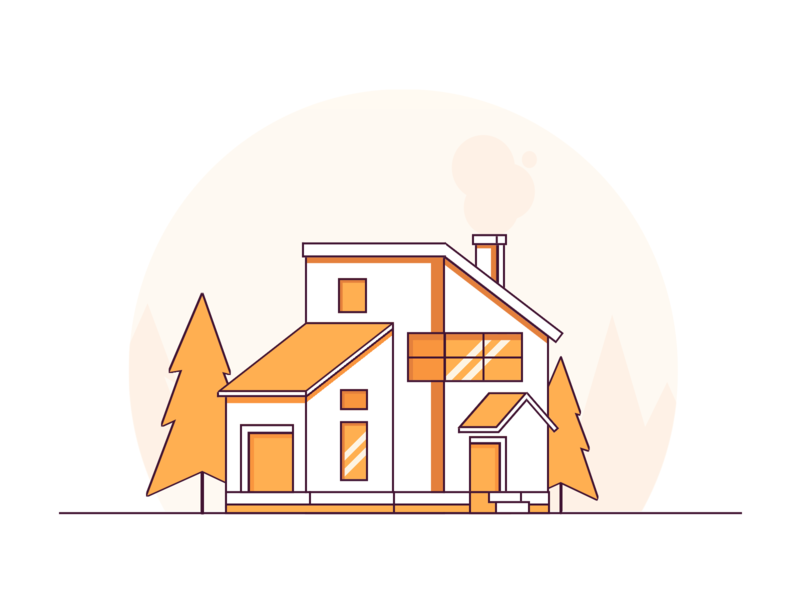 Line House building house html css html5 html minimal illustration art cartoon vector art css art vector css drawing css3 css illustration