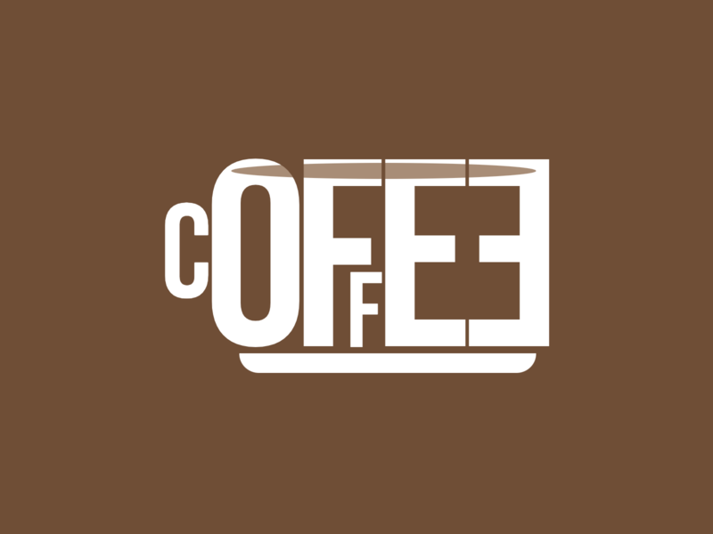 Coffee letters blend mode html css html5 html css drawing css3 css illustration
