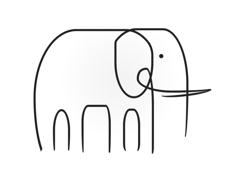Elephant line drawing line minimalistic minimalist animal elephant html css html5 html illustration art cartoon vector art css art vector css drawing css3 css illustration