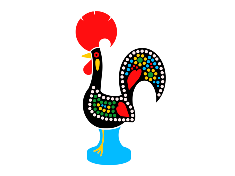 Rooster of Barcelos animal legend barcelos galo rooster portugal html css html5 html illustration art cartoon css art css drawing css3 css illustration