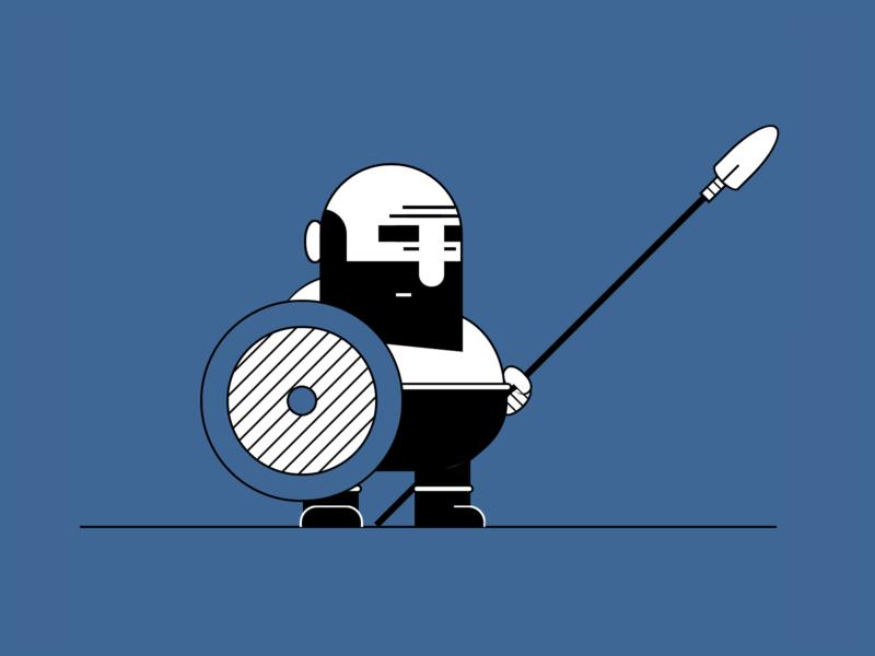 Warrior cartoon vector art vector html css html5 html css art css drawing css3 css illustration