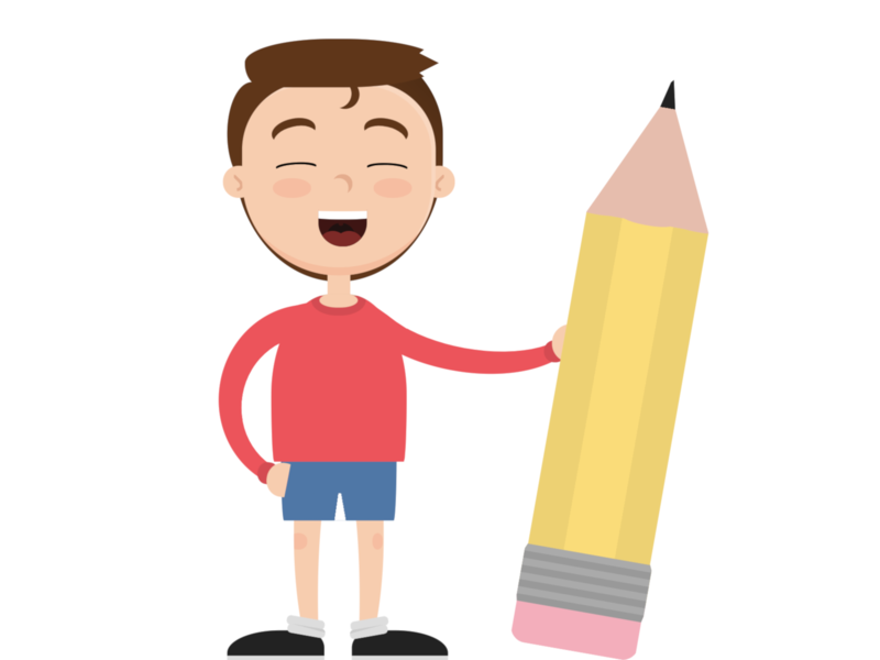 Back to school pencil student character cartoon vector html css html5 html css art css drawing css3 css illustration
