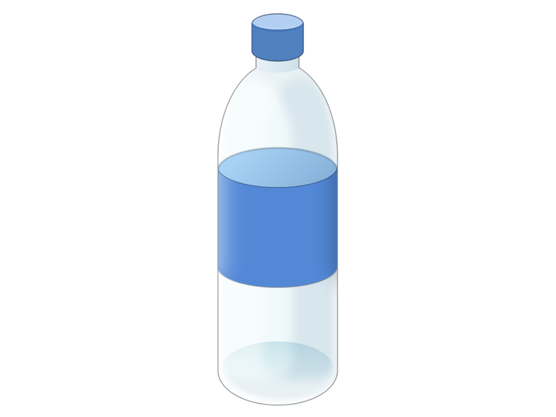 Water bottle plastic bottle water vector html css html5 html css art css drawing css3 css illustration
