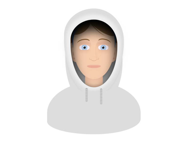 Face + Hoodie hoodie face person cartoon vector html css html5 html css art css drawing css3 css illustration