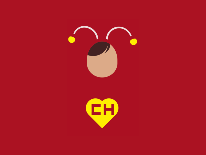 Chapulín minimalist superhero chapulin colorado chapulín chapulin person vector minimal html css html5 html css art css drawing css3 css illustration