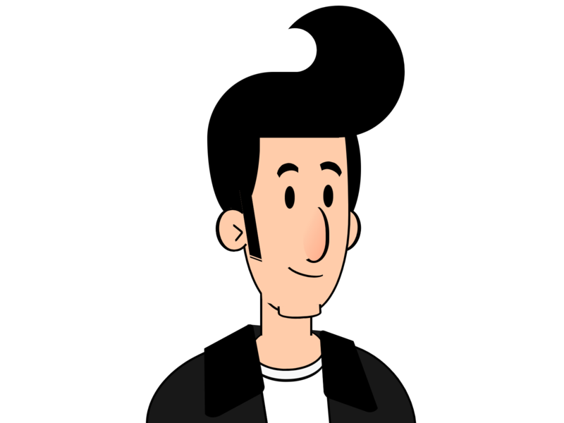 Greaser cartoon fonzie the fonz greaser grease person vector css art html css html5 character html css drawing css3 css illustration