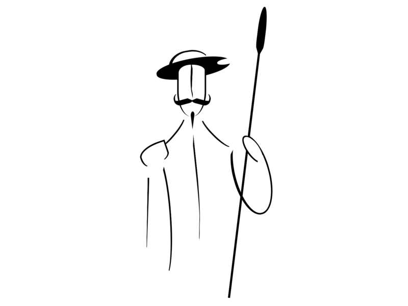 Quixote cervantes españa spain don quijote quixote linear illustration html 5 html css html5 html vector art css art css drawing css3 css illustration
