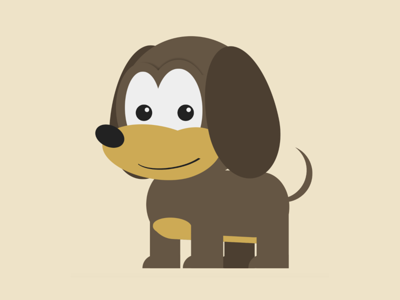 Puppy puppy dog animal character html css html5 html vector css art css drawing css3 css illustration