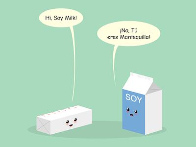 Joke (fixed) joke dad joke soy milk mantequilla leche butter milk vector art html css html5 html vector cartoon css art css drawing css3 css illustration
