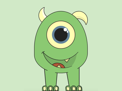 Little Monster cartoon character halloween monster html css html5 html cartoon vector css art css drawing css3 css illustration