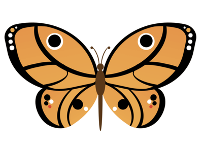 CSS Butterfly monarch monarch butterfly insect animal butterfly vector illustration html css html5 html cartoon vector css art css drawing css3 css illustration