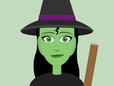 CSS Witch wicked witch halloween html css html5 html cartoon vector css art css drawing css3 css illustration