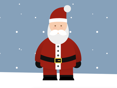 CSS Santa snow christmas santa claus santa html css html5 html cartoon vector css art css drawing illustration css3 css