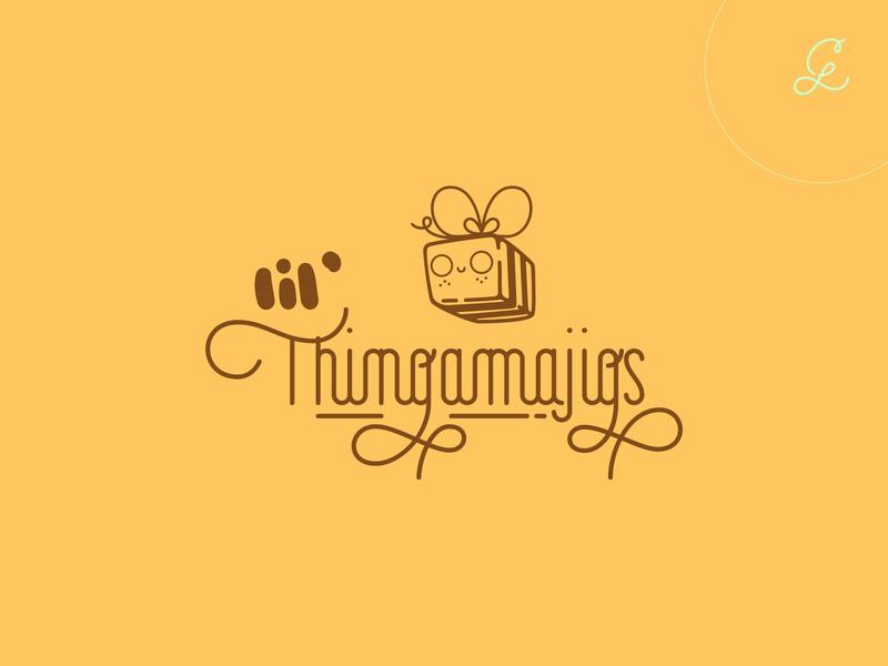 lil' thingamajigs — full logo lettering calligraphy graphic design branding concept hand drawn typography custom logotype logo design logo