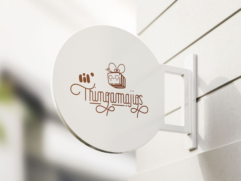 lil' thingamajigs — sign mockup