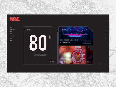 —marvel redesign: homepage
