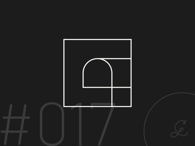 — #dailylogochallenge | 017 graphic design minimal architecture shape arch arc geometric logo design logo dailylogochallenge