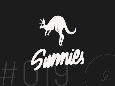 — #dailylogochallenge | 019 graphic design crikey sunnies sunglasses australia kangaroo mascot logotype mark logo design logo dailylogochallenge