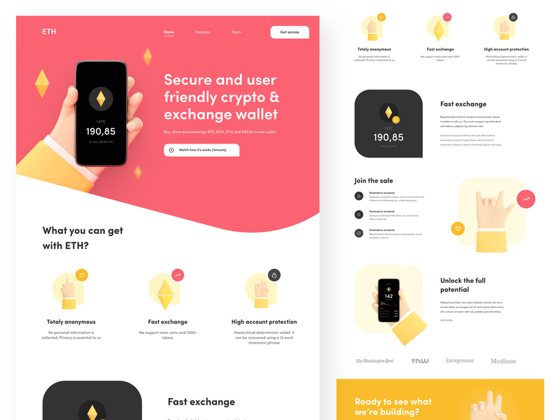Ethereum - Landing page flat illustration icon typography ux design landingpage ethereum website uiux ui illustraion web