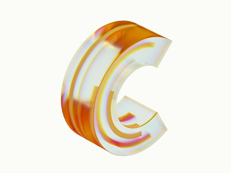 Dispersion 3d typography illustration design