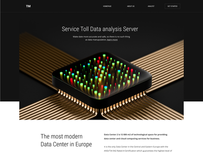 Data Center - V1 technology landingpage web design web 3d ux ui illustration design website