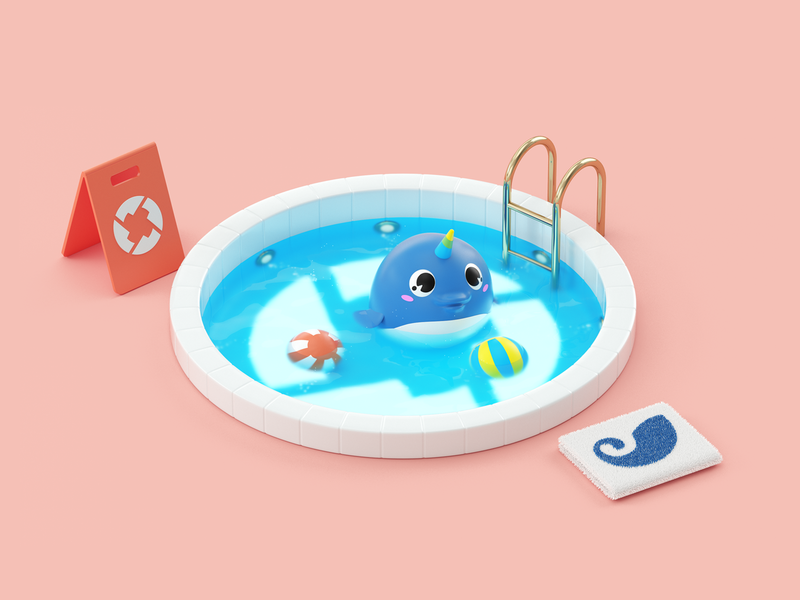 0x illustration cryptocurrency sweet cute pool water digital illustrations 3d