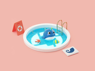 0x shapes cute sweet cryptocurrency crypto pool motion design illustration 3d