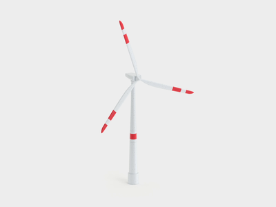 Windmill animation design illustration 3d