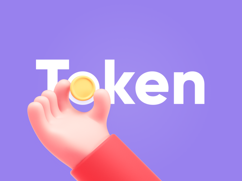 New Token 3d cryptocurrency crypto wallet crypto hand token new